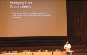 Jimbo speech - annoying user good content slide