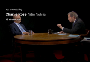 screenshot Charlie Rose Nitin Nohria