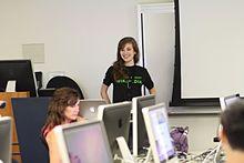 GorillaWarfare_teaching_advanced_Wikipedia_editing,_2011-07-09.jpg